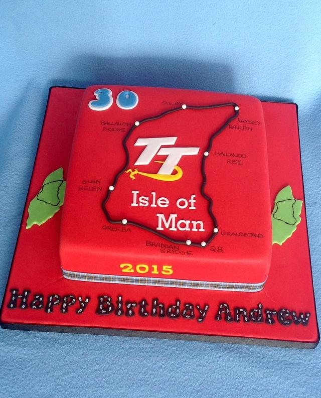 IOM TT biker cake