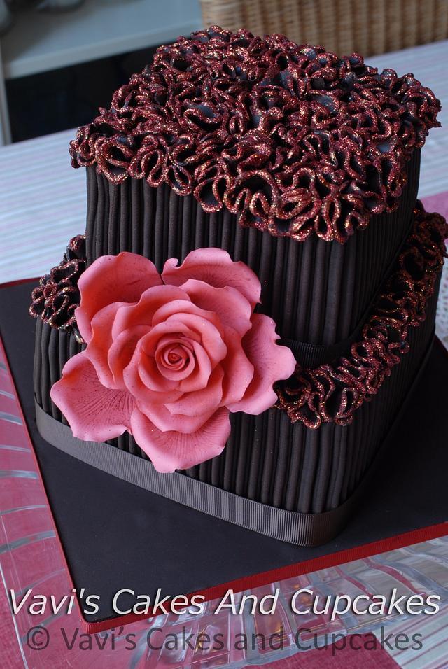Strange Chocolate Ganache Birthday Cake For My Friend Alan Cakesdecor Personalised Birthday Cards Vishlily Jamesorg