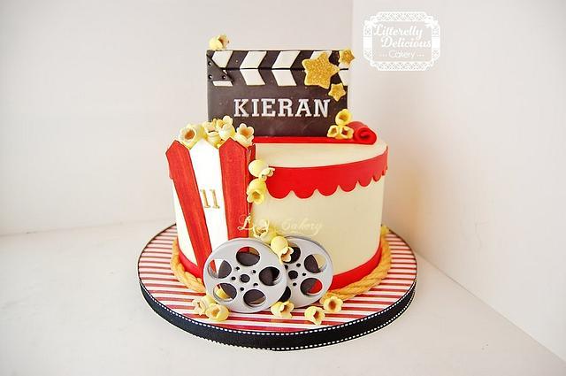 """At the Movies"" birthday cake"