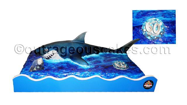 3D shark custom cake