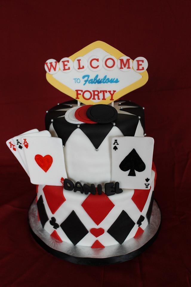Astounding Casino Birthday Cake Cake By Sweet Shop Cakes Cakesdecor Funny Birthday Cards Online Barepcheapnameinfo