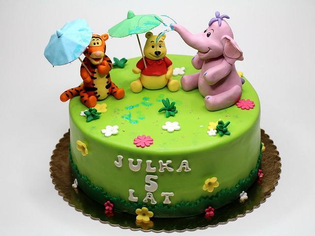 Winnie the Pooh and Friends Birthday Cake