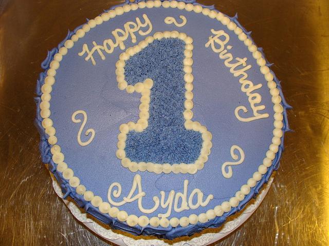 Ayda's 1st Birthday cake