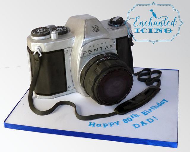 Retro Pentax Camera Cake