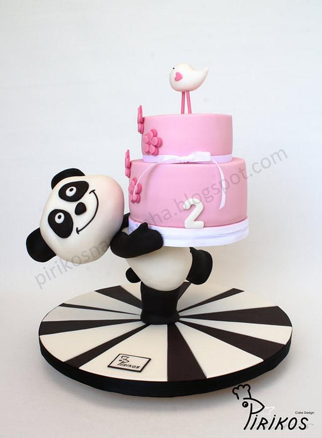 Panda delivers a cake!