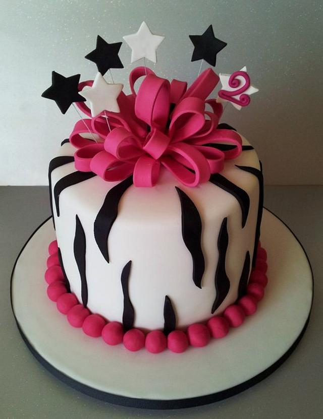 Admirable Zebra Birthday Cake Cake By Sarah Poole Cakesdecor Funny Birthday Cards Online Alyptdamsfinfo
