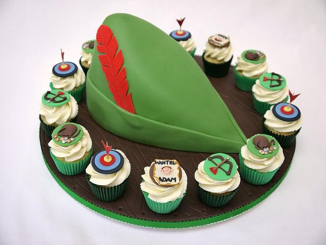 Robin Hood Hat and Mini Cupcakes