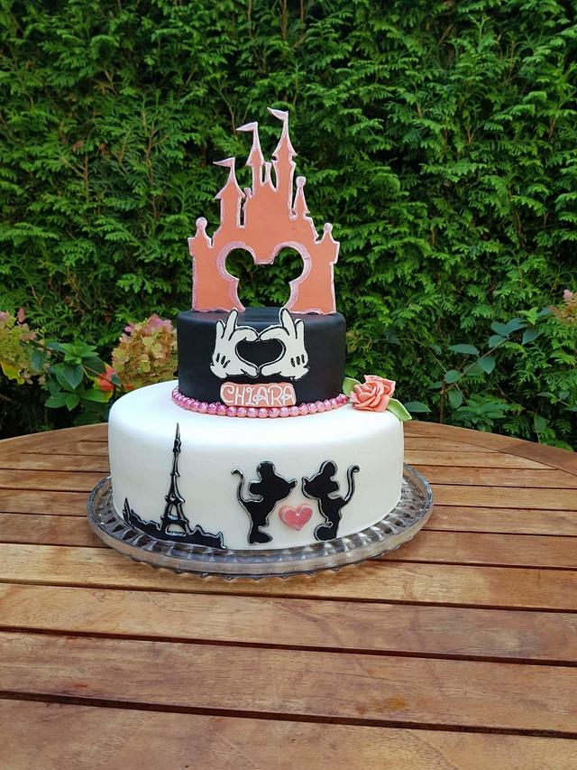 Prime Disneyland Paris Cake By Christiane Offenbacher Cakesdecor Funny Birthday Cards Online Chimdamsfinfo