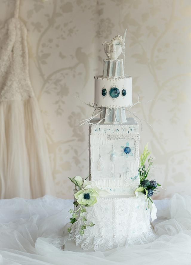 Cool as Ice - Winter Wedding Cake