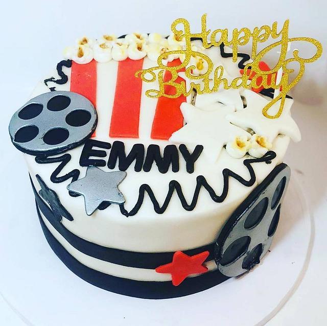 Super Movie Theme Birthday Cake Cake By Givethemcake Cakesdecor Funny Birthday Cards Online Alyptdamsfinfo