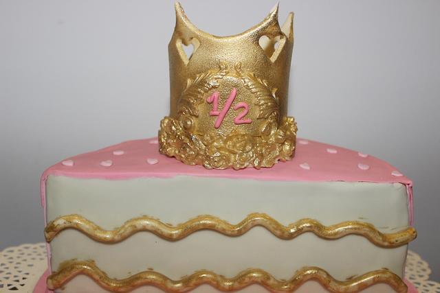 Surprising Half Birthday Cake Cake By Pralinedesignercakes Cakesdecor Personalised Birthday Cards Paralily Jamesorg