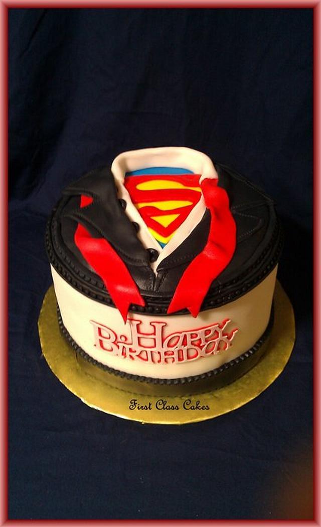 Superman/Clark Kent dress shirt cake