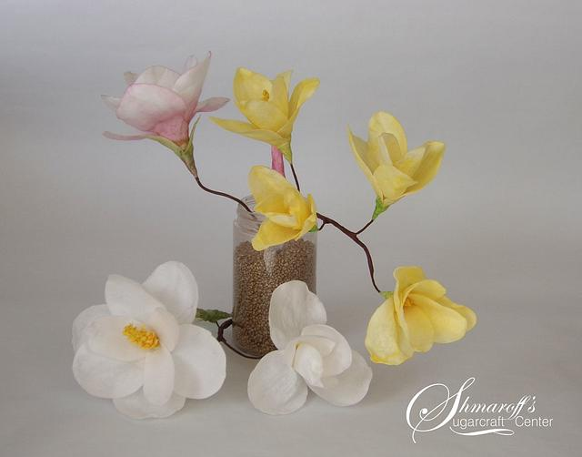 Wafer Paper Magnolia Flowers