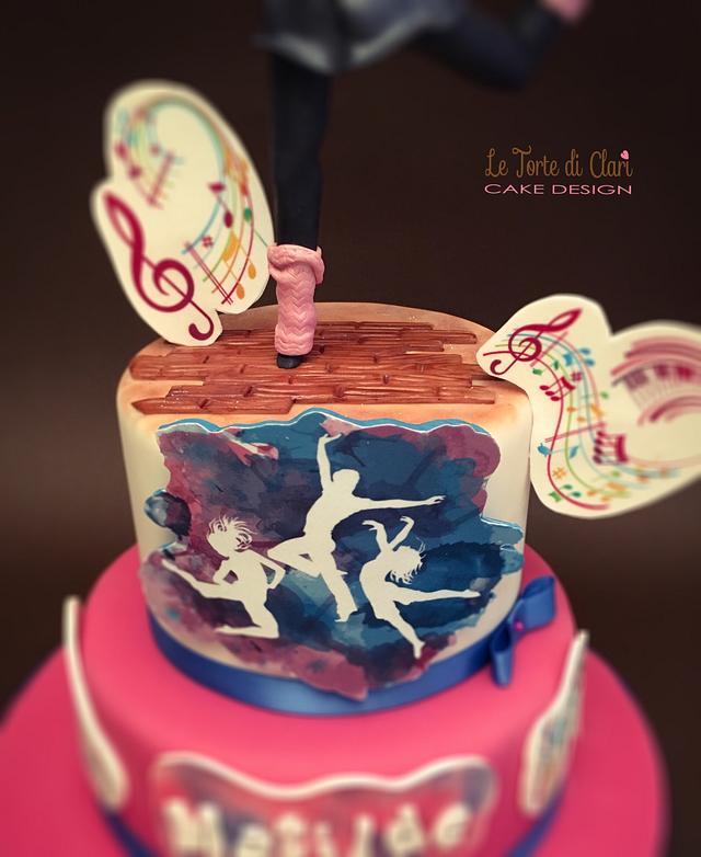 Modern dance cake