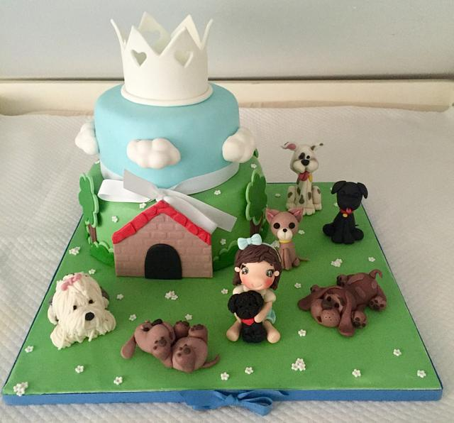 Cake with dogs