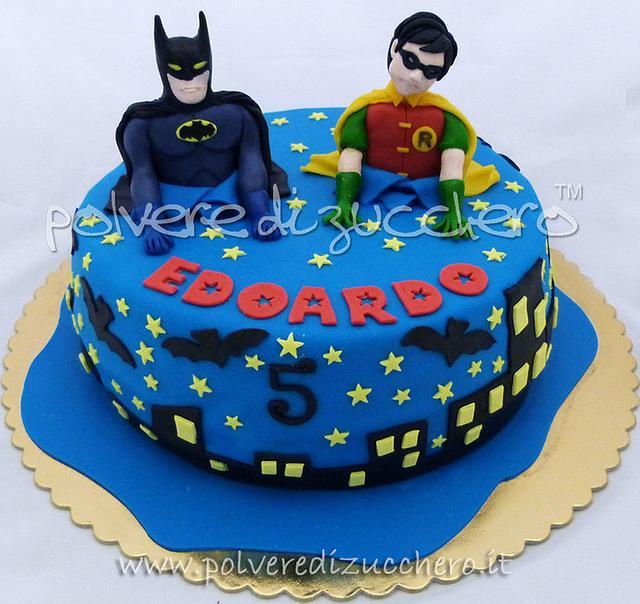 Brilliant Batman Robin Cake Cake By Paola Cakesdecor Personalised Birthday Cards Vishlily Jamesorg