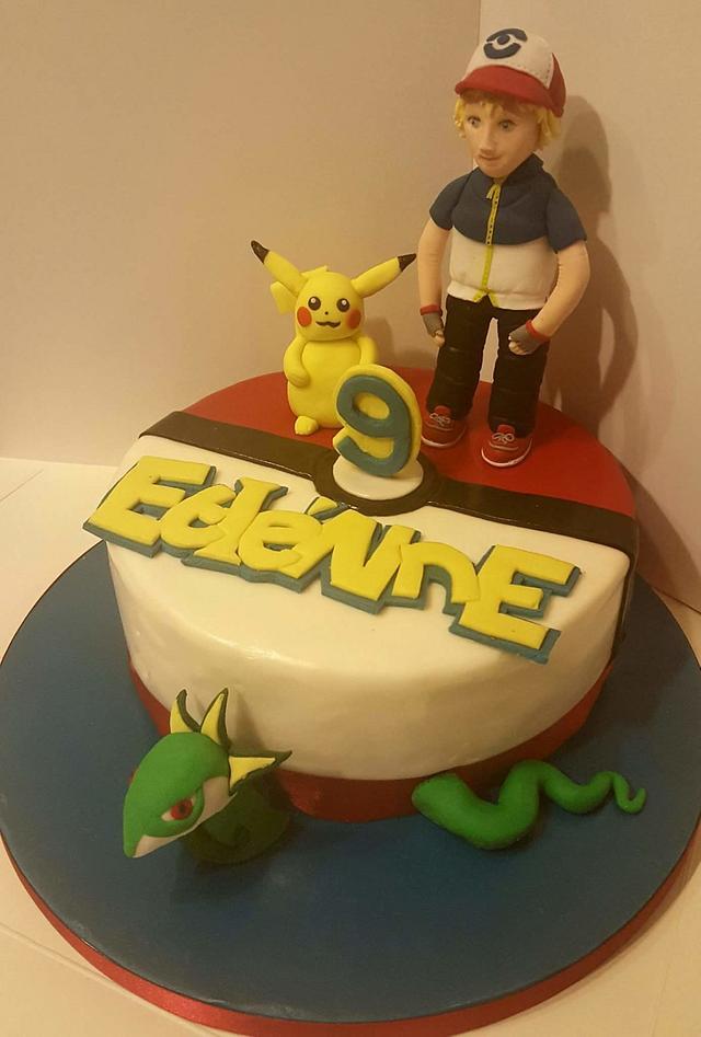 Pokemon Go Birthday Cake
