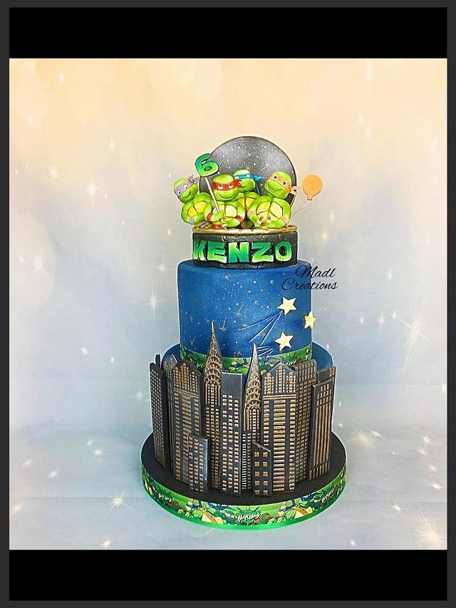 Tortue ninja cake