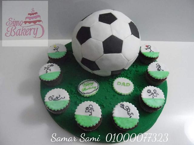 Astonishing Soccer Birthday Cake Cake By Simo Bakery Cakesdecor Personalised Birthday Cards Paralily Jamesorg