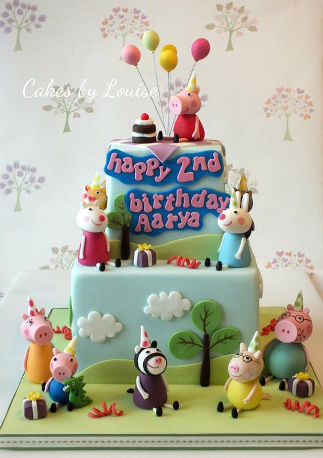 Marvelous Peppa Pig Birthday Party Cake By Louise Jackson Cake Cakesdecor Funny Birthday Cards Online Hendilapandamsfinfo