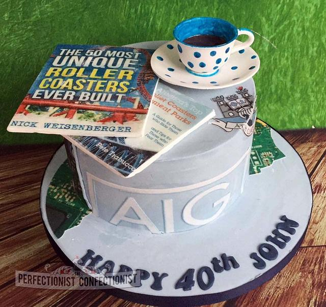 Strange John 40Th Birthday Cake Cake By Niamh Geraghty Cakesdecor Personalised Birthday Cards Beptaeletsinfo