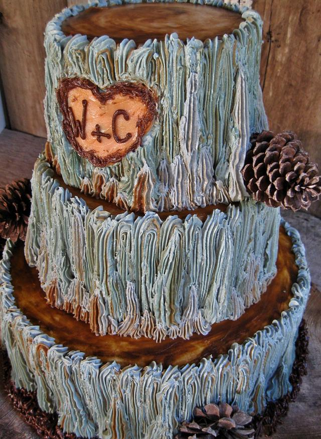RUSTIC Log cake 100% buttercream