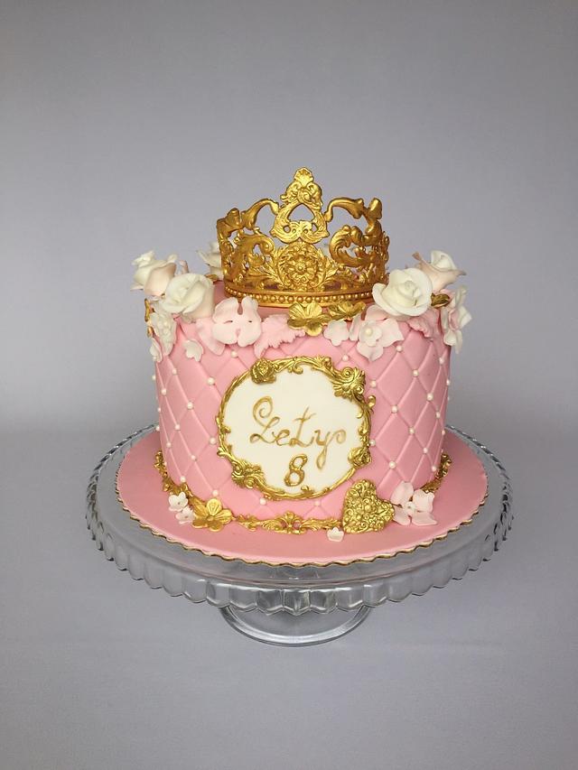 Fantastic Princess Birthday Cake Cake By Layla A Cakesdecor Personalised Birthday Cards Veneteletsinfo