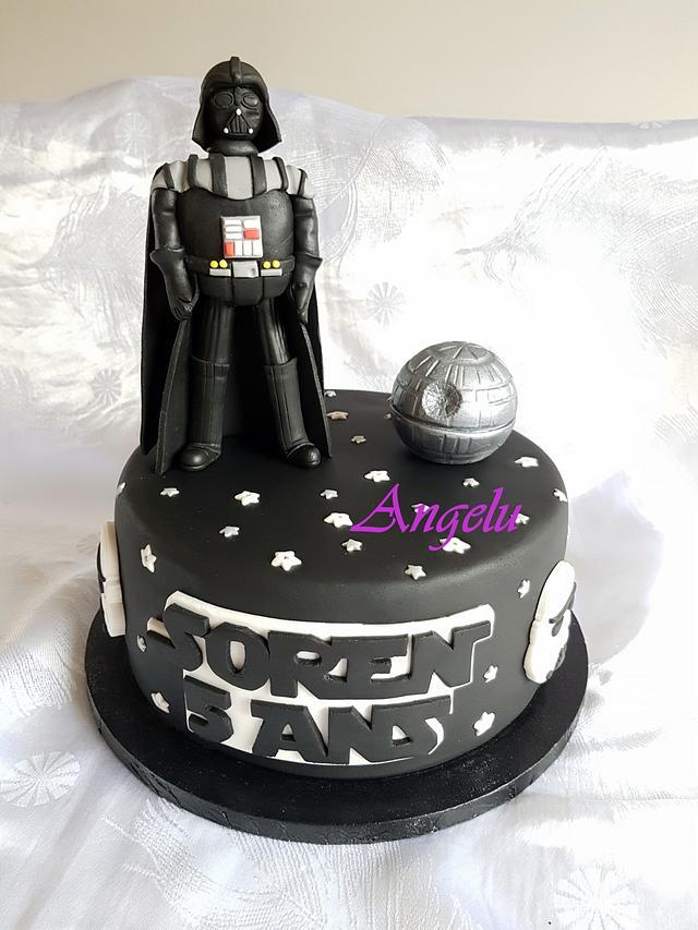 Remarkable Star Wars Darth Vader Cake Cake By Angelu Cakesdecor Birthday Cards Printable Trancafe Filternl