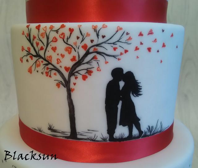 Hand painted love story