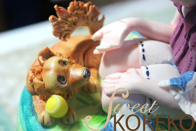Tennis and Dog Cake
