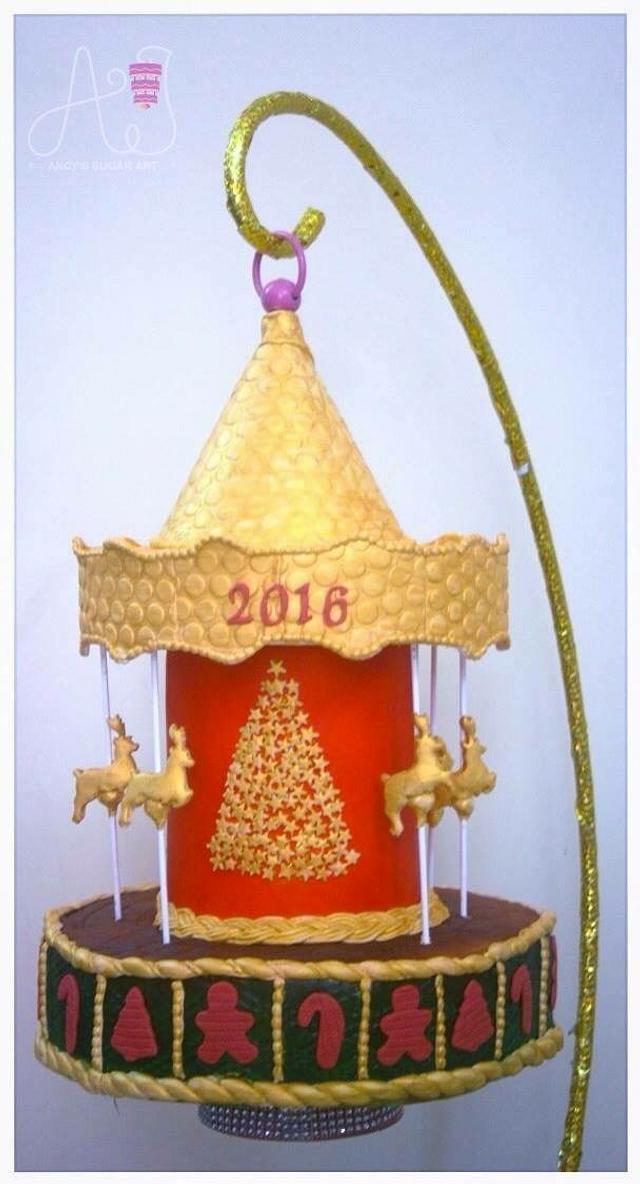 Christmas carousel  2016 gravity defying cake