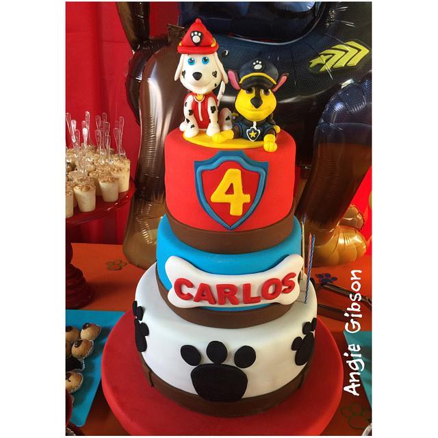 PAW PATROL B-DAY CAKE!!!