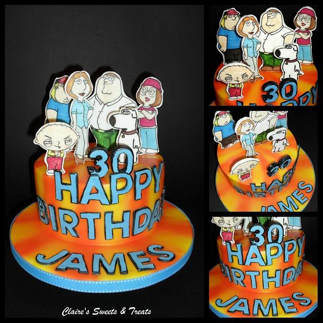 Prime Family Guy Cake By Clairessweets Cakesdecor Personalised Birthday Cards Veneteletsinfo