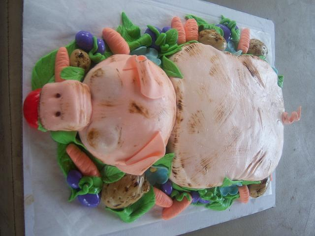 pig roast cake