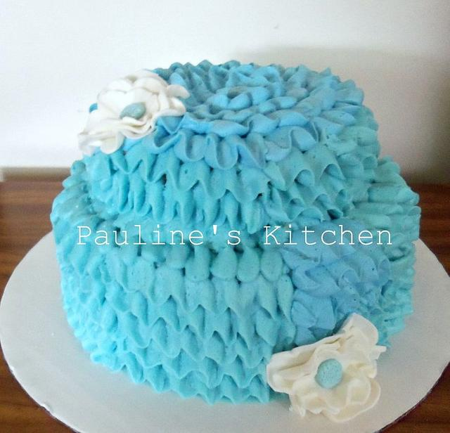 Tiffany Ribbon Cake