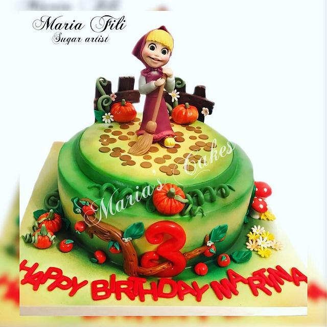 Masha Birthday Cake