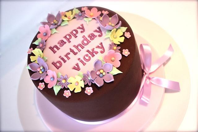 Girly Chocolate Birthday Cake