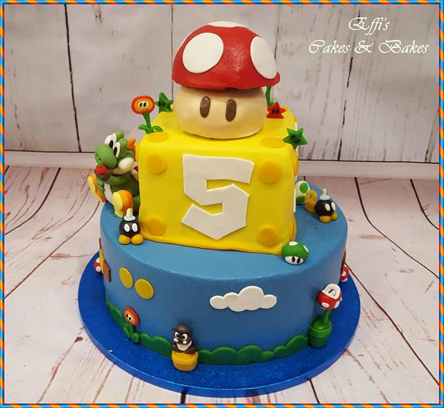Marvelous Yoshi Birthday Cake Cake By Effis Cakes Bakes Cakesdecor Funny Birthday Cards Online Necthendildamsfinfo