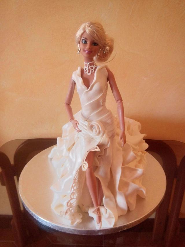 doll in wedding dress