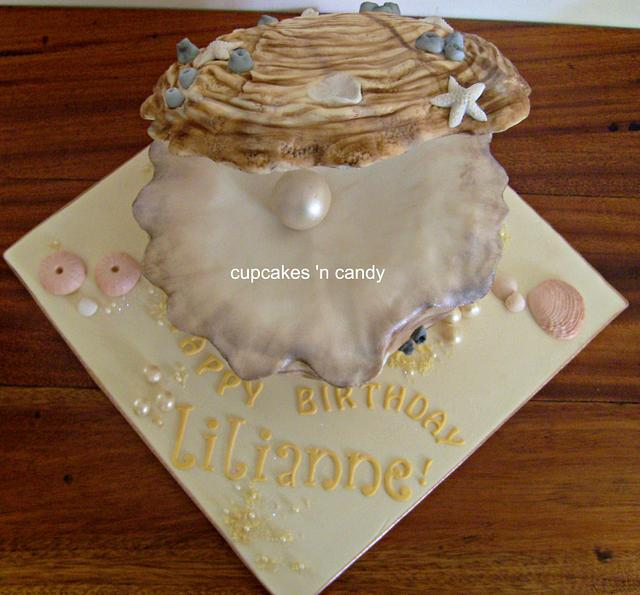 Oyster Themed Cake
