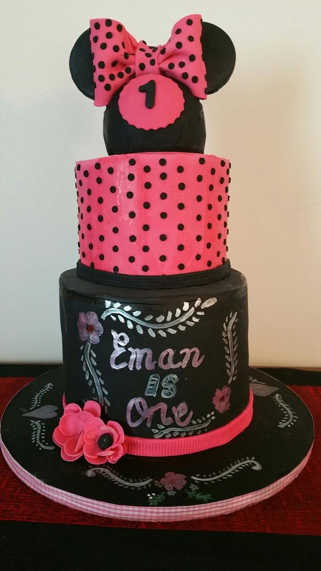 Miraculous Minnie Mouse First Birthday Cake Cake By Cake Raga Cakesdecor Personalised Birthday Cards Vishlily Jamesorg