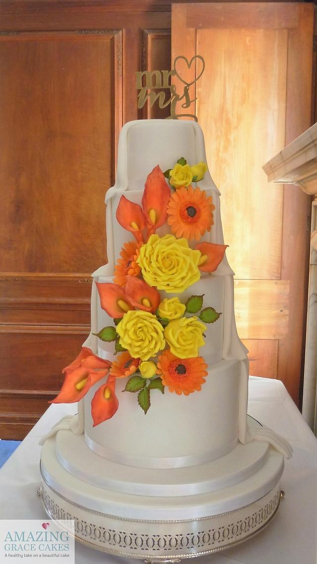 Autumnal Wedding Cake