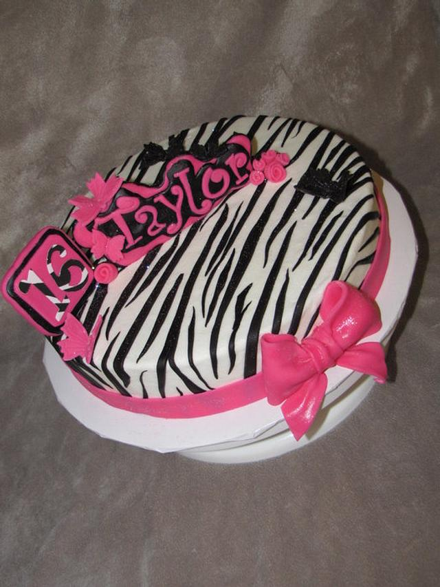Sweet 16 Pink and Zebra print
