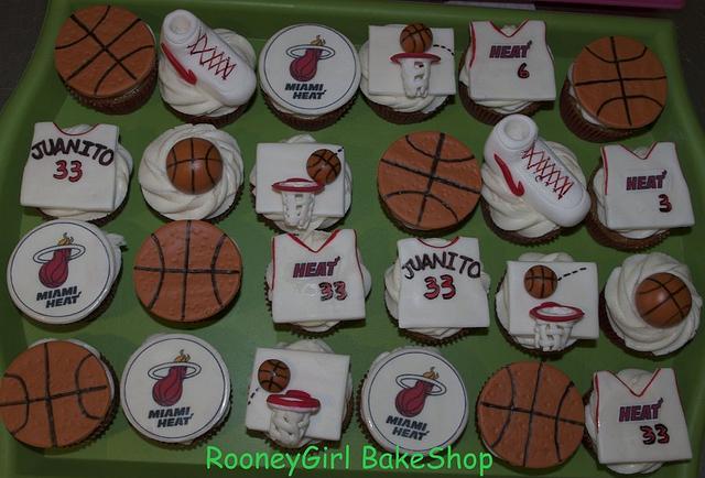 Miami Heat BasketBall Cupcakes