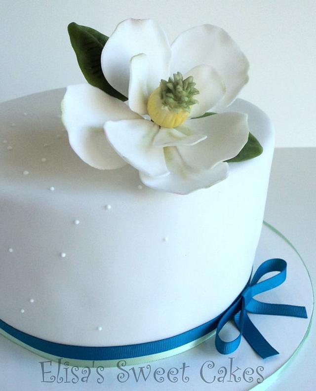 Magnolia Birthday Cake