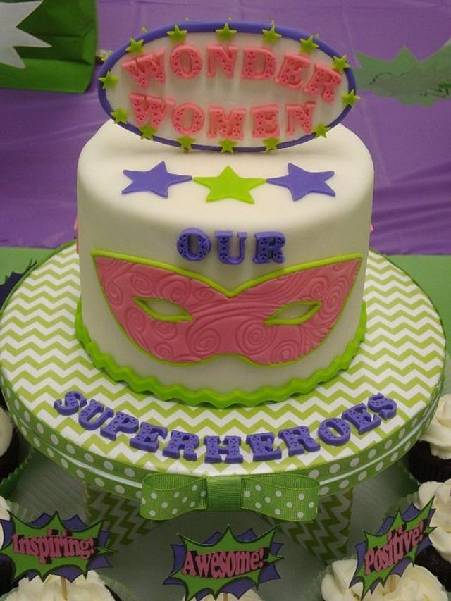Teacher Appreciation Cake & Cupcakes (Our Superheroes)