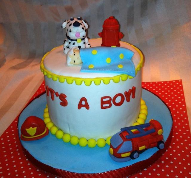 Fireman Themed Baby Shower
