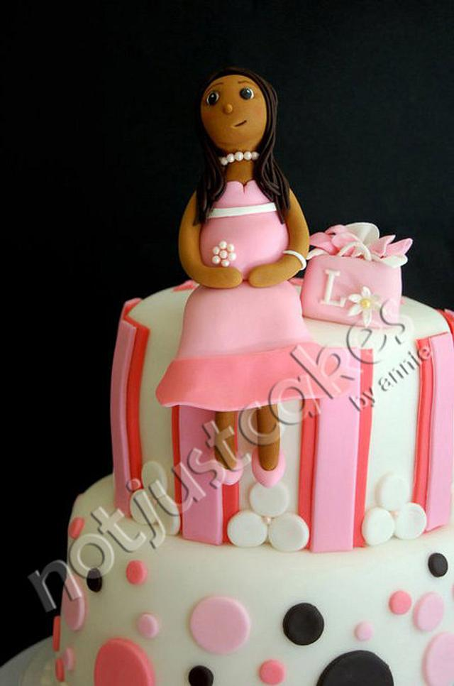 Pregnant Mommy Shower Cake