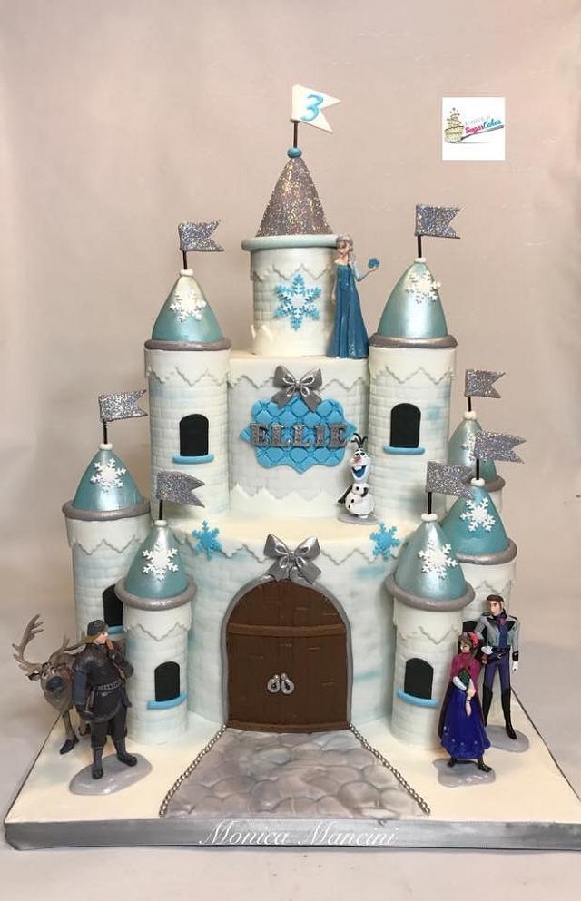 """Frozen"" Castle cake"