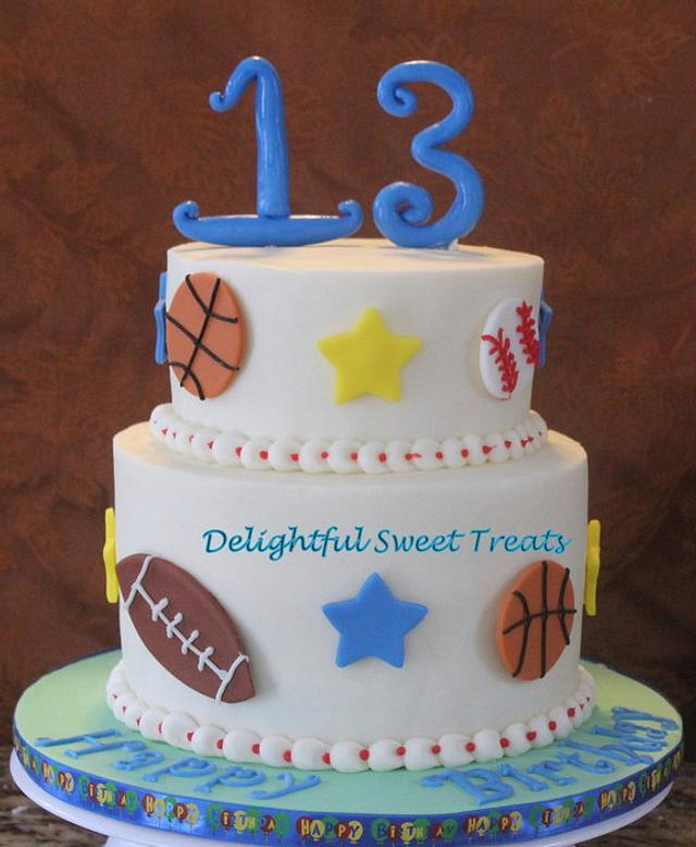 Enjoyable Sports Themed Birthday Cake Cake By Kathleen Cakesdecor Funny Birthday Cards Online Elaedamsfinfo